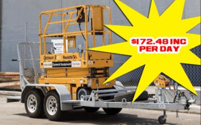 6 Meter Scissor lift & Trailer Package