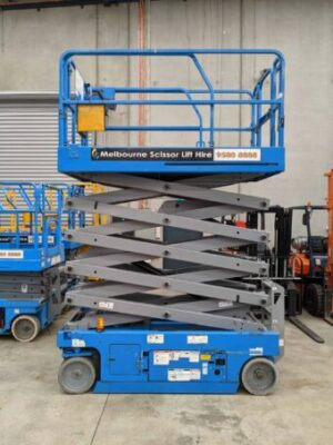 scissor lift slightly open